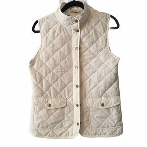 Ivory Quilted Vest by Kenar